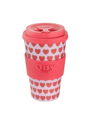 Bambusa krūze QuyCup 400 ml Love