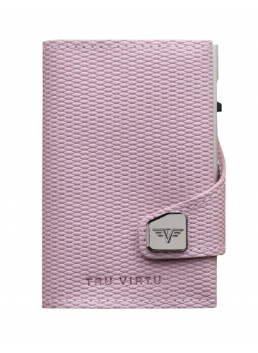 Card holder TRU VIRTU CLICK & SLIDE Rhombus Rose/Silverd